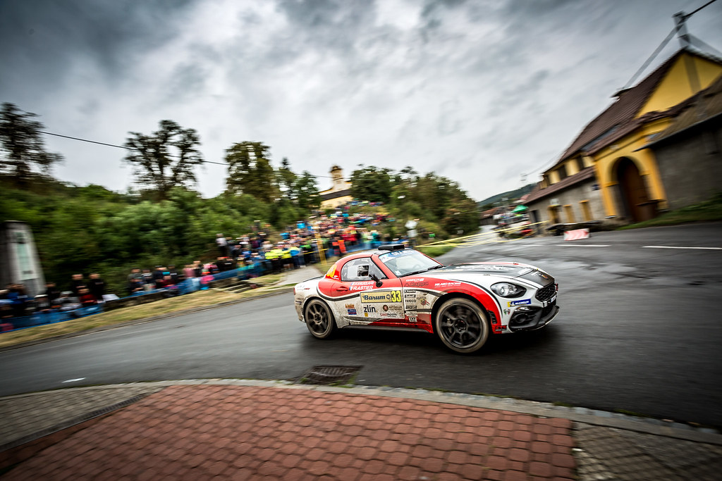 33 Astier Raphael, Vauclare FrEdEric, FRA/FRA, Fiat 124 Abarth RGT, Action during the 2018 European Rally Championship ERC Barum rally,  from August 24 to 26, at Zlin, Czech Republic - Photo Thomas Fenetre / DPPI