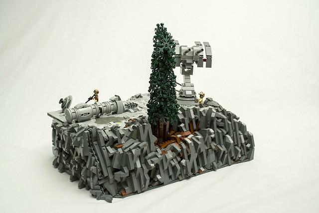 LEGO abandonned base on, Nikon D5300, AF-S DX VR Zoom-Nikkor 18-55mm f/3.5-5.6G
