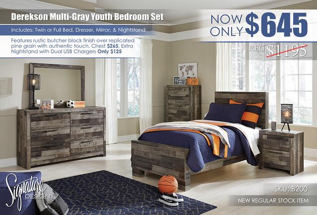 Derekson Youth Bedroom Set_B200-31-36-53-52-83-92-Q419