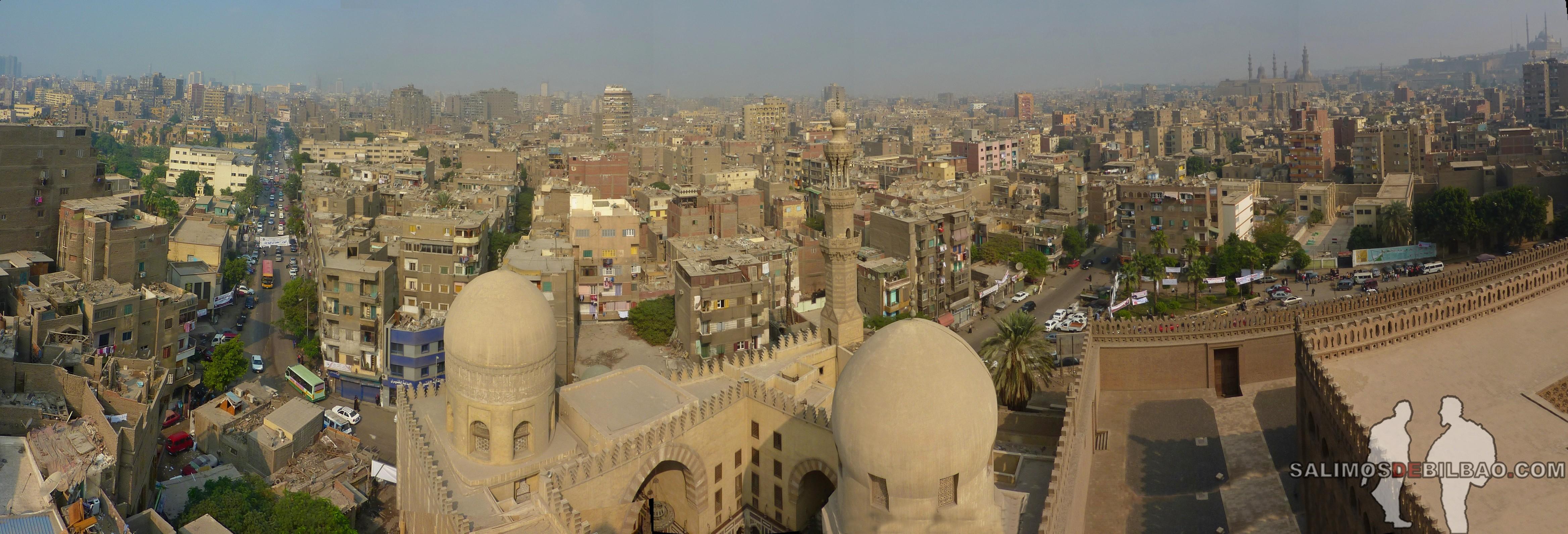 0019. Pano, Vistas desde Mezquita de Ahmad Ibn Tulun, Cairo