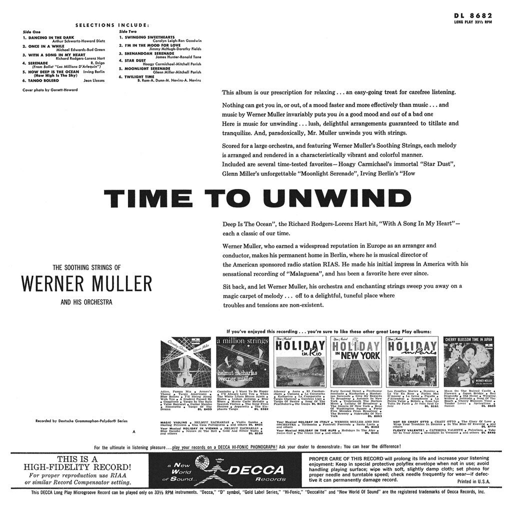 Werner Müller - Time to Unwind