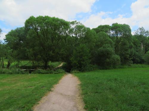 20180618 14 356 Baltica Wolken Weg Bäume Baum Weide Brücke