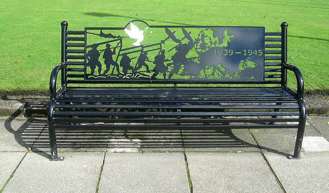 Rochdale War Memorial Bench, 1939-1945