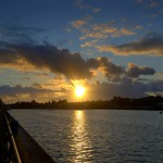 Setting Sun at Preston Docks scenic