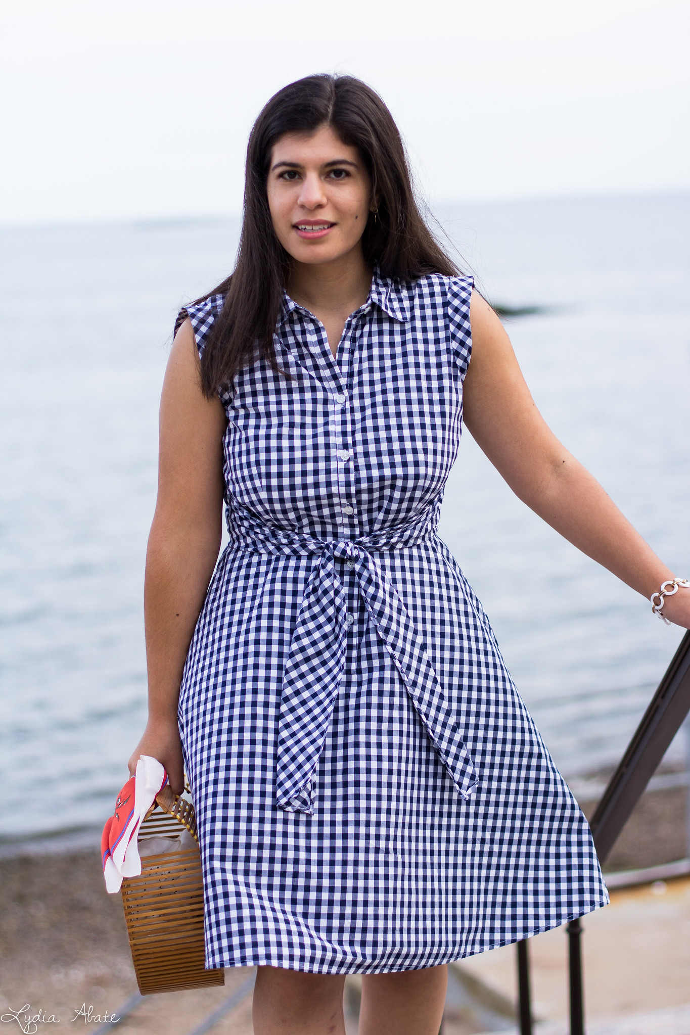 gingham dress, rust mules, bamboo half moon bag-5.jpg