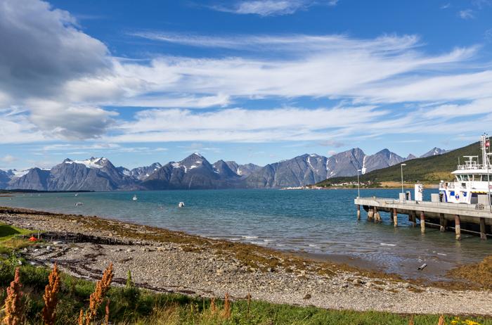 Pohjois-Norja maisema tunturi syksy Norway fjell turkoosi vuono_