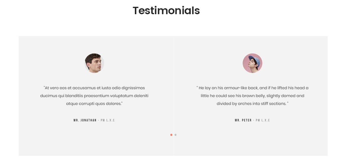 testimonials - best fashion template
