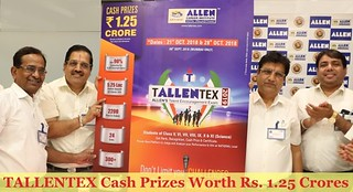 Tallentex cash Prize Worth Rs. 1.25 Crores