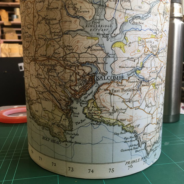 Vintage Map Lampshades