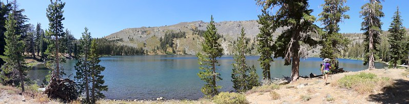 Wide panorama shot of Gilmore Lake just off the PCT - we decided not to camp here and headed onward