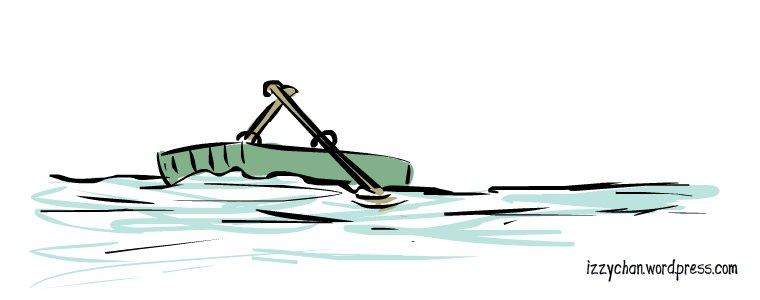 green rowboat