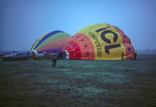 Cold Morning - Balloons Being Inflated