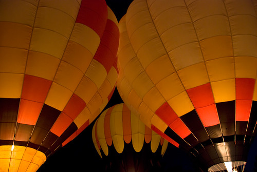 Hot Air Balloon 'Fire-up' at Mancos, Colorado