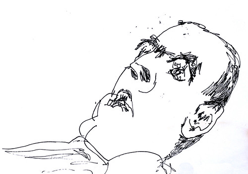 espressivo uomo   ritratto uomini che disegnano inchiostro su carta   ritratti disegni