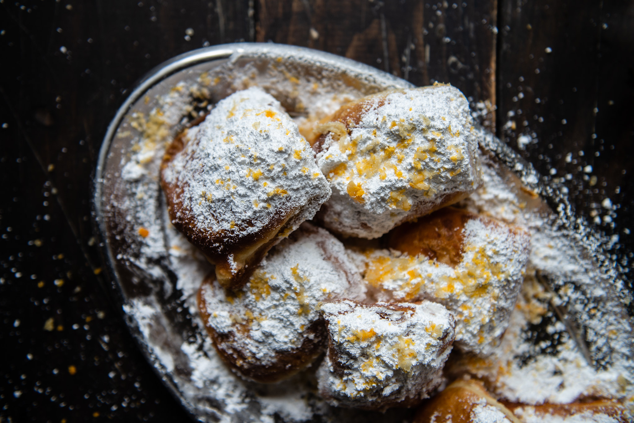 salted yolk & lotus paste beignets