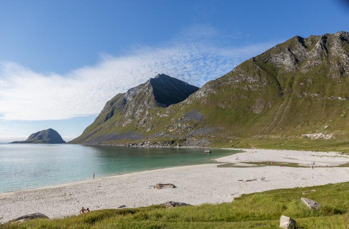 Pohjois-Norja maisema Norway Svolvaer Lofootit Lofoten Haukland Beach_