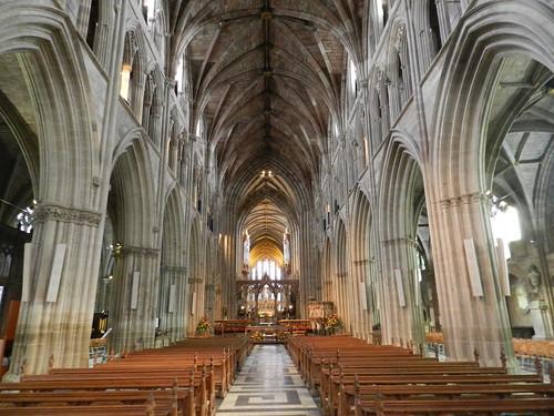 Worcester Cathedral Interior, Worcester, Sep 2018