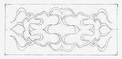 Symmetrical pattern of curly lines within a rectangle (1894) by Julie de Graag (1877-1924). Original from the Rijks Museum. Digitally enhanced by rawpixel.