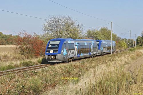 UM X73579-X73564-Normandie-TER 832782 Mulhouse-Kruth à Cernay
