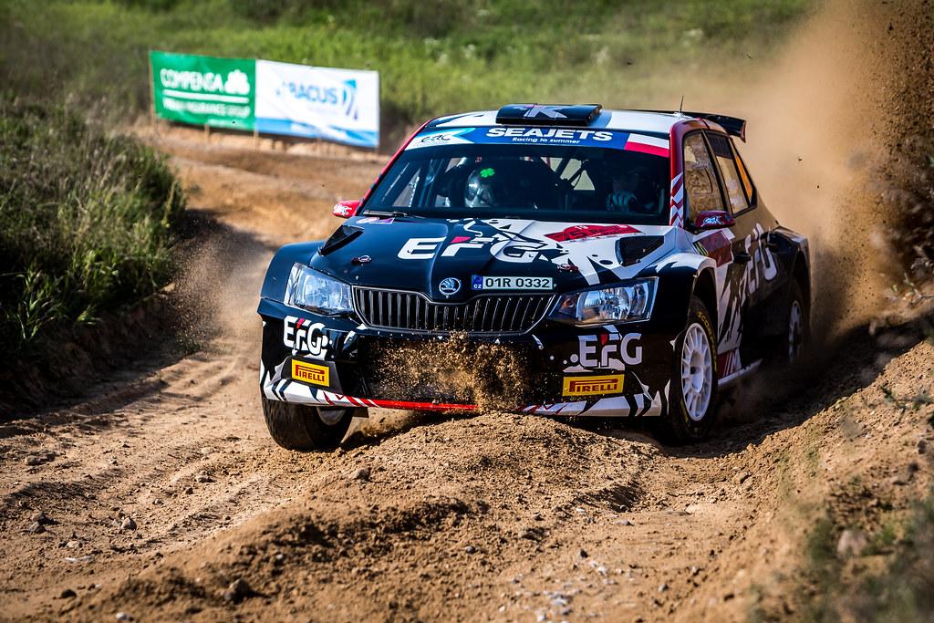 19 RUTA Szymon (POL), HELLER Kamil (POL), Skoda Fabia R5, action during the 2018 European Rally Championship Rally Poland at Mikolajki from September 21 to 23 - Photo Thomas Fenetre / DPPI