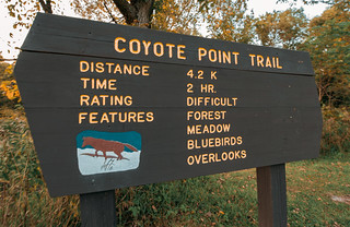 Coyote Point Trail at Whitewater State Park, Minnesota
