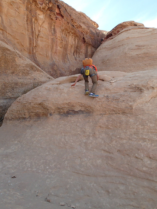 Fri, 2017-11-17 13:12 - Typical scrambling section in Wadi Rum