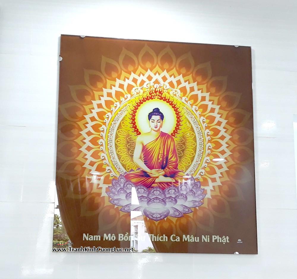 Tranh Đức Phật Thích Ca Mâu Ni GH-120 bằng kính cường lực