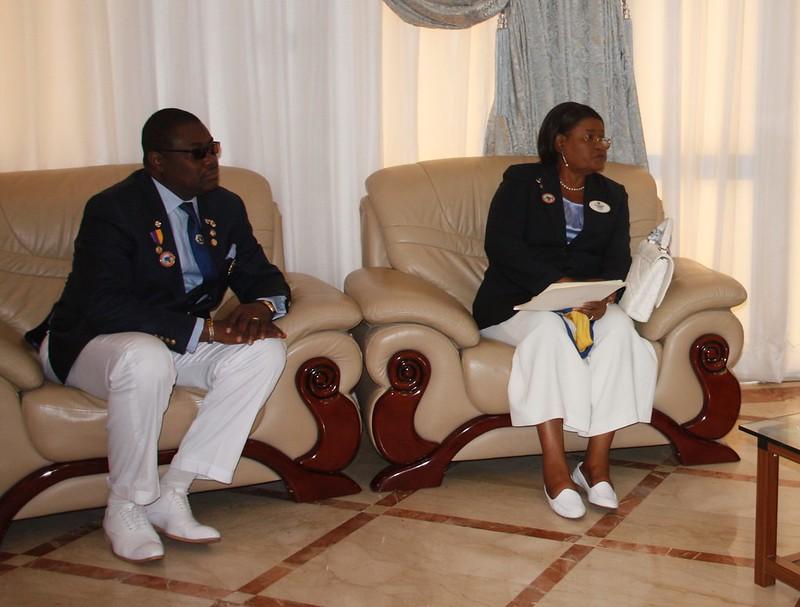délégation lions club chez le PM Klassou