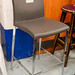 E95 framed high stool leatherette and chrome