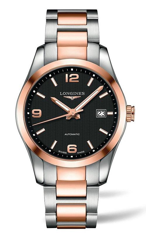 Đồng hồ Longines Conquest Demi vàng hồng 18K Automatic mới 100%, đủ hộp sổ, thẻ.