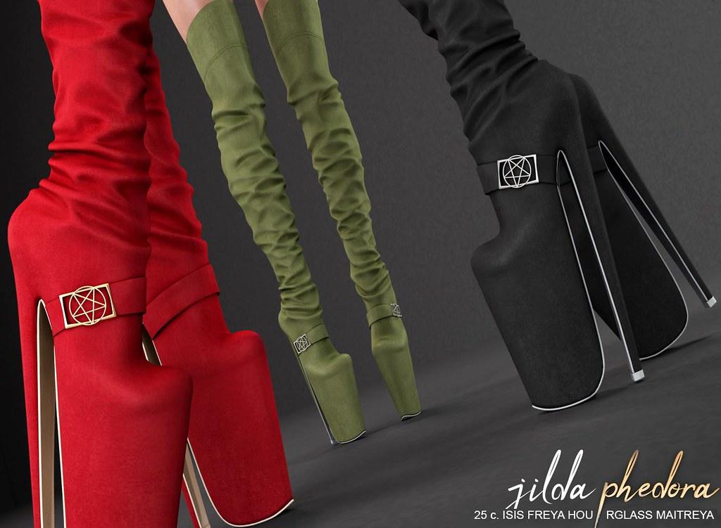 "Phedora. for Kinky Monthly event - ""Jilda"" boots - TeleportHub.com Live!"