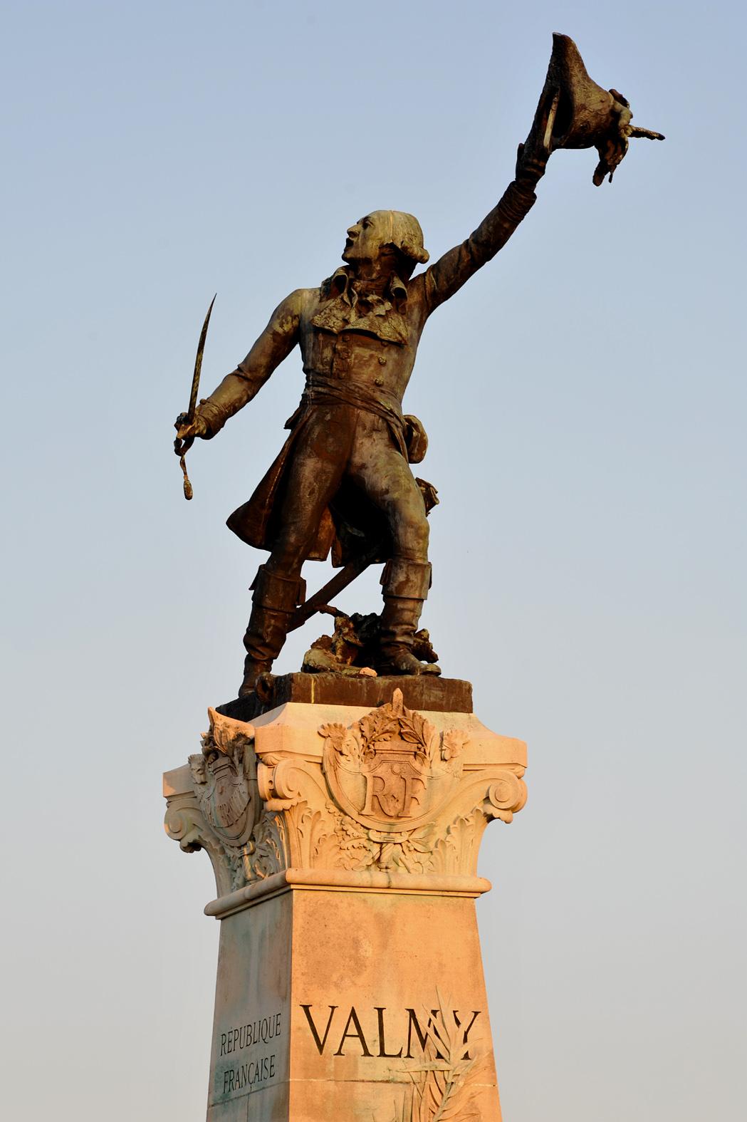 Monument of Marshal François Christophe Kellermann in Valmy; Marne, France. Photo taken on September 25, 2009.