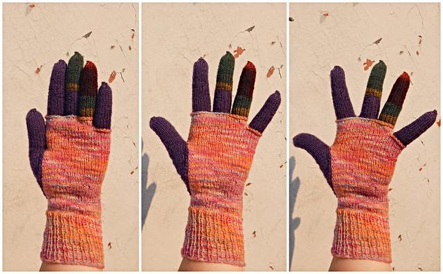 Перчатка из остатков носочной пряжи готова, а заодно готова и следующая глава про путешествия во времени. | HoroshoGromko.ru