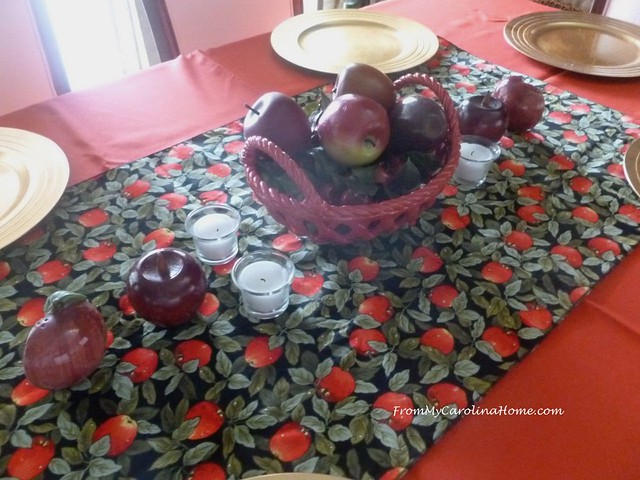 Apple Tablescape at From My Carolina Home