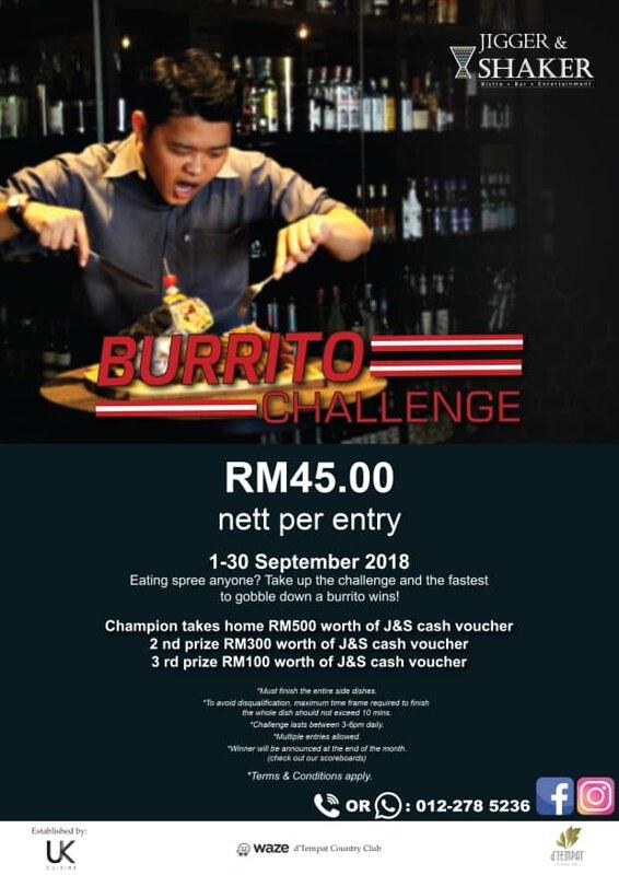 jigger burito challenge