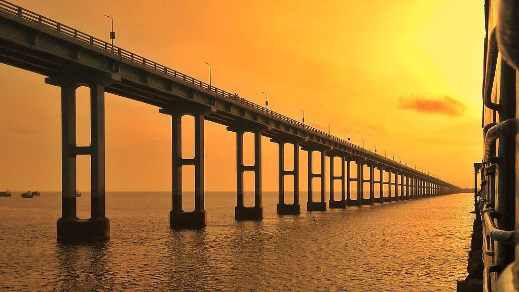 Sunset view from Pamban Bridge