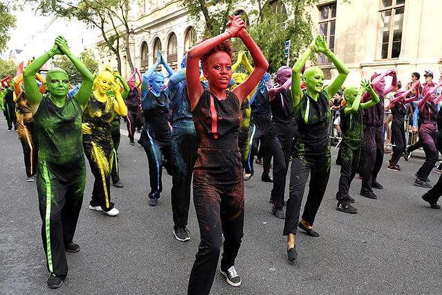 Défilé de la Biennale de la danse à Lyon, 2018