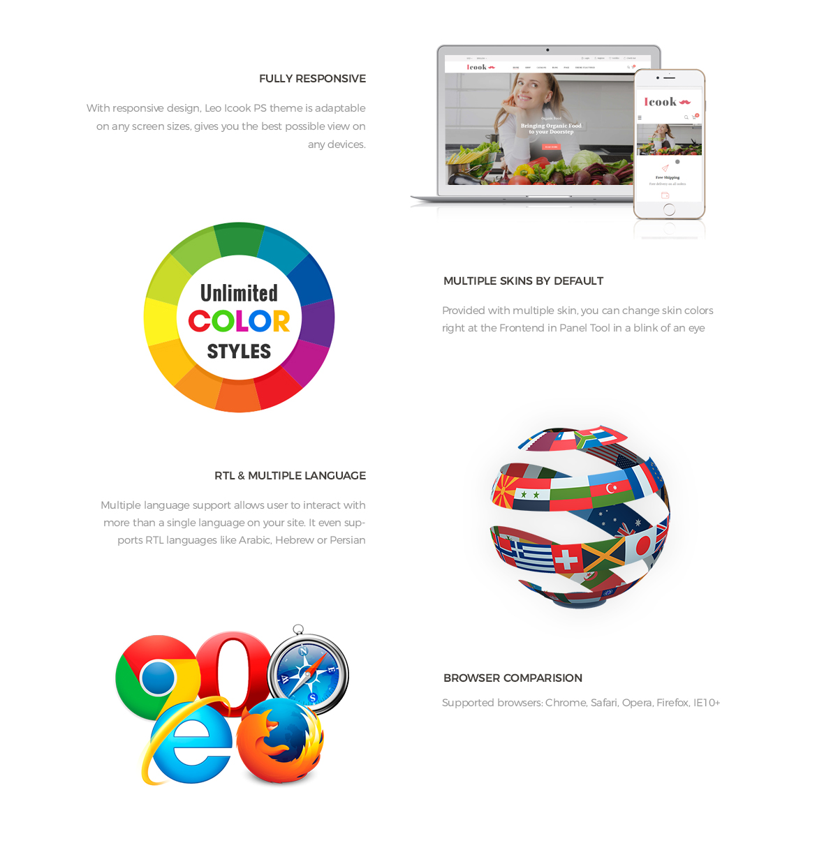 Prestashop 1.7 theme features-Leo ICook Prestashop Theme - Kitchen Tool, Cookware, Kitchenware