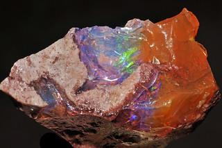 quartz var. precious fire opal