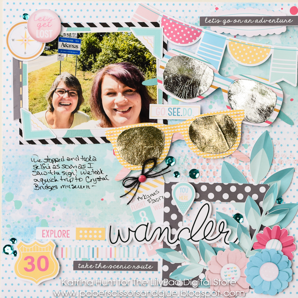Summer Scrapping Series Wander Hybrid Layout