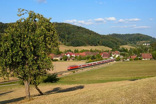 111 043, RE Nürnberg Hbf - Stuttgart Hbf, Schleißweiler