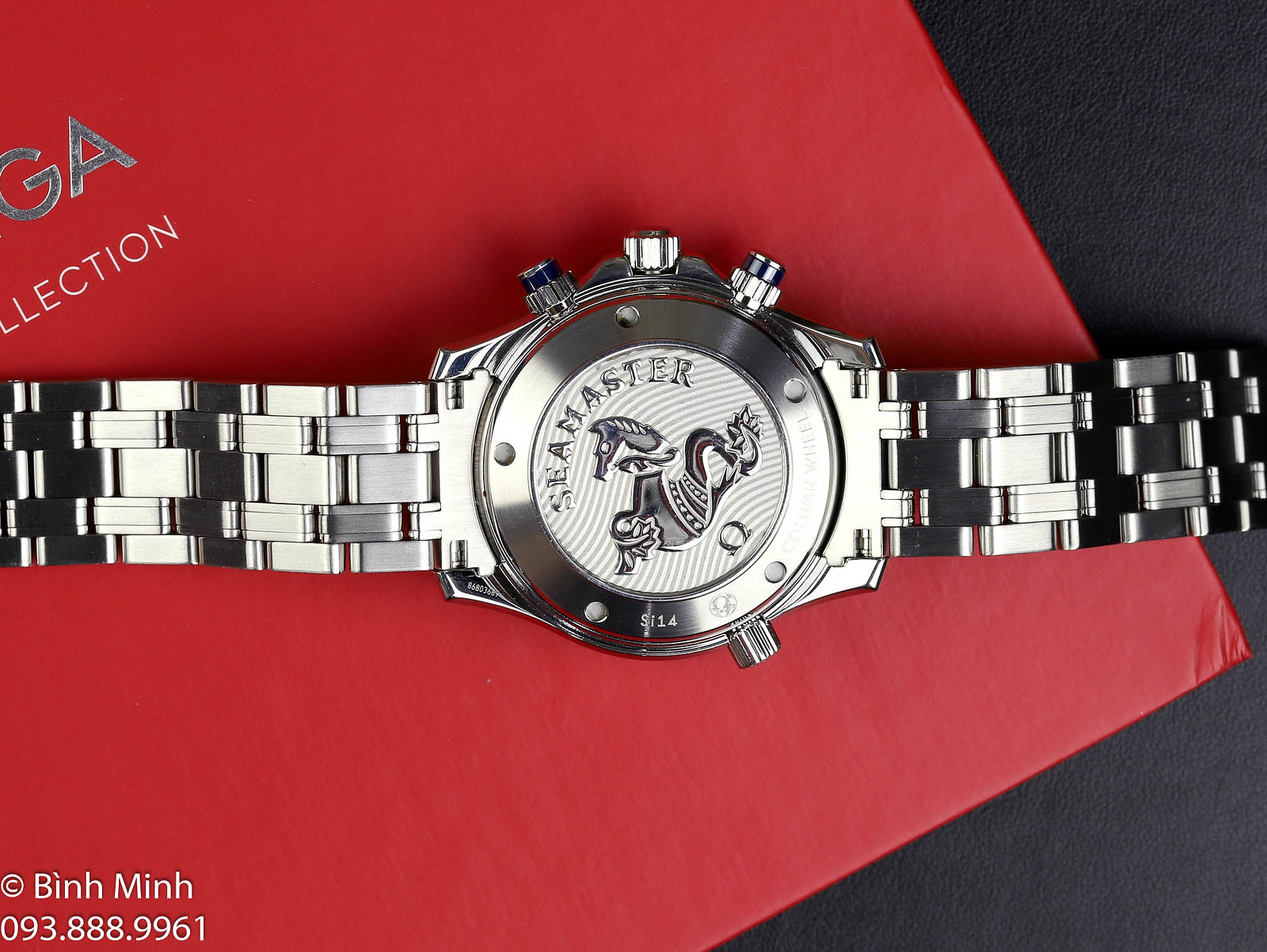 Đồng hồ Omega Seamaster Pro 300 Chronograph niềng Ceramic, mới 95% đủ hộp, sổ. Giá siêu tốt