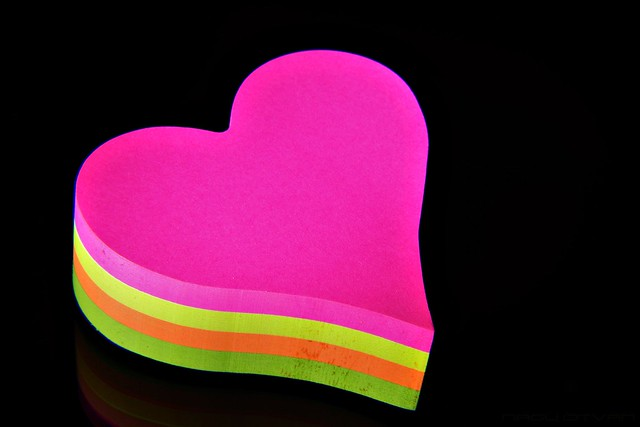 Heart Shaped Sticky Note