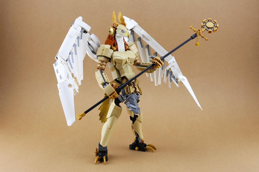 魄力滿點的法老守護神降臨!! 「樂高七號 LEGO7」樂高MOC 作品【荷魯斯】Horus