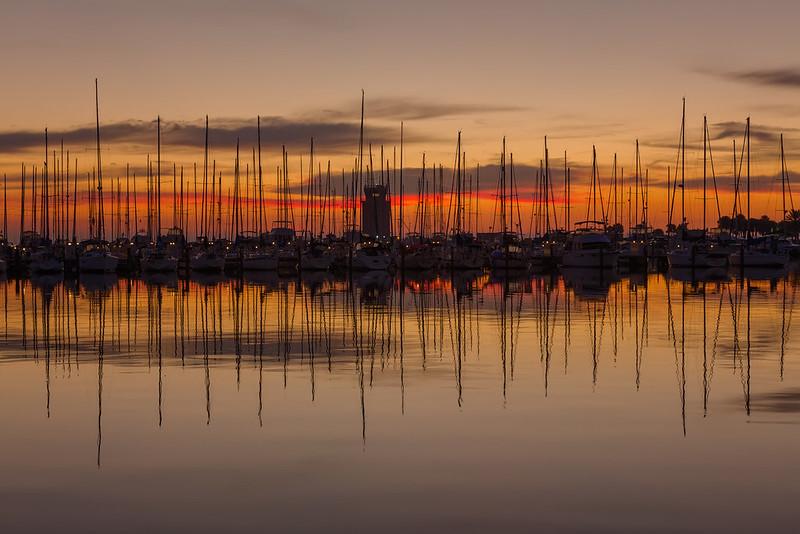St Pete Sailboats at Sunrise 2