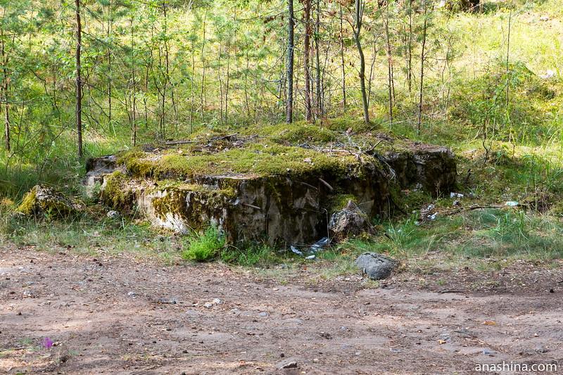 Развалины ДОТ №6 укрепрайона Инкиля (Ink 6)