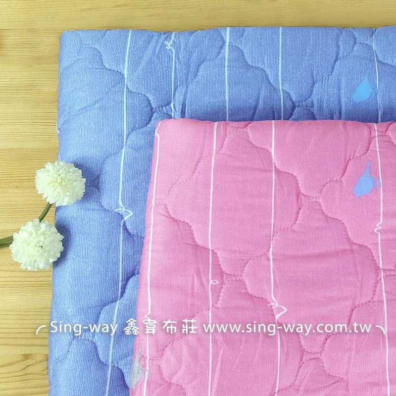 【限宅配】樹藤鳥兒 簡約 格子 小鳥 動物 精梳棉鋪棉床品床單布料 B990096