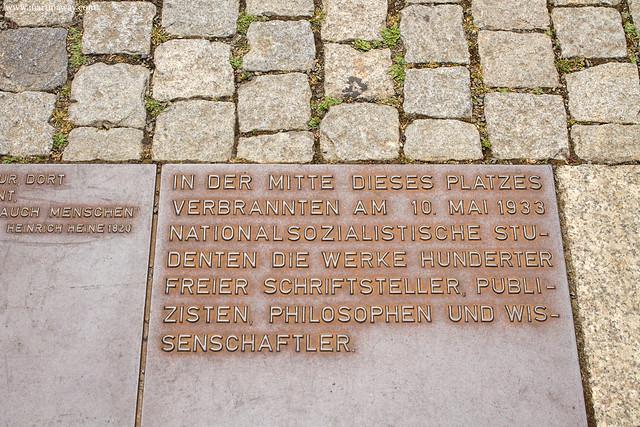 Denkmal zur Bücherverbrennung am 10. Mai 1933