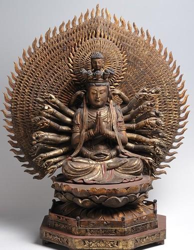 A statue of Avalokitesvara – Kannon – Guan Yin