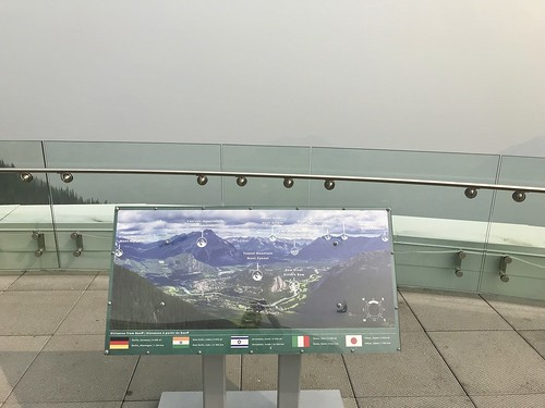 "Our ""view"" at the top of Sulphur Mountain (!)"